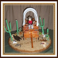 Original Cake Design By The Amazing Susan Carberry The Cacti Are Supposed To Be Leaning Lol I Made This Cake For My Son A Few Years Ago Original cake design by the amazing Susan Carberry. The cacti are supposed to be leaning. lol. I made this cake for my son a few years ago...