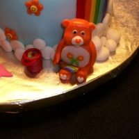 Care Bear Baby Shower Cake
