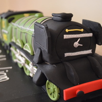 The Flying Scottsman  i made this for my little boy who loves steam engines. he had his party at a train museum this year and the flying scottsman was the cake...