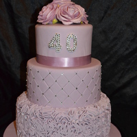 Lilac Birthday Cake   made this for a good friend who turned 40,