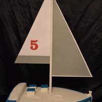 Sail Boat  made this for a regular customer, very happy with this one. I added a few touches to make it my own. The sale is made from card stock and...