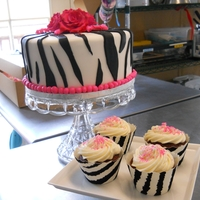 Zebra Birthday Party Red velvet with cream cheese