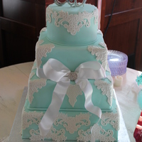 Fondant With Fondant Lace Overlays Fondant with fondant lace overlays.