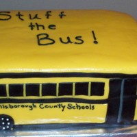 School Bus Tampa Electric Company had a campaign to stuff the bus with school supplies for needy children and we made this cake to motivate the...