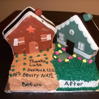 Rehabber House This cake was made for a real estate investor who obviously rehabs houses. :o)