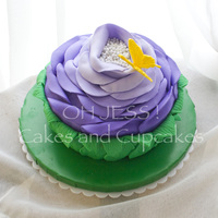Rose Cake With Butterfly