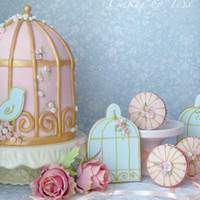 Birdcage Pink And Gold