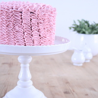Pink Dark Chocolate Ruffle Cake!