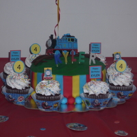 Thomas The Train Decorated for my sons 4th birthday party.
