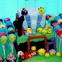 My Son's 5Th Birthday Cake! Angry birds cake for my oldest son's birthday. The kids had fun eating the birds and pigs!