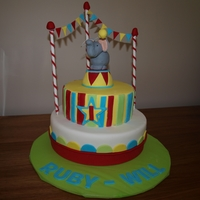 Circus Birthday Cake This cake was made for my twins 1st birthday- as there is one boy and one girl, i wanted a theme that was neutral and thought of a circus...