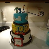 Toy Story Birthday Cake Here is my try at the Toy Story Birthday cake. I looked at so many versions here on CC and gave it a try. 3 tier cake 10', 8', &...