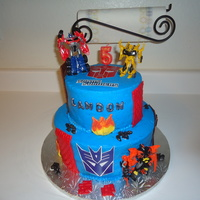 Transformer Cake This is my son's 5th Birthday cake. It's my version of a Transformers Cake from the many cakes I saw on Cake Central. It's a...