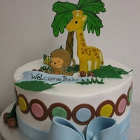 "Buttercrem Baby Shower All edible 9"" baby shower cake."