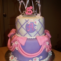 Princess Cake Princess Cake with tiara and wands with streamers.