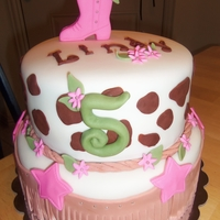 Ride Em Cowgirl Girly western cake