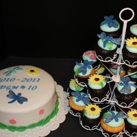 Dragonfly Theme Cake & Cupcakes