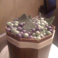 Barrel Of Grapes This was a cake for my friends 40th birthday. She is in sales at a vineyard, so I made a barrel of grapes. The grapes are fondant and the...