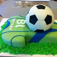 Sounders Soccer Cake Birthday cake for a Seattle Sounders fan!