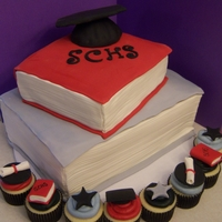 Graduation Cake And Cupcakes...
