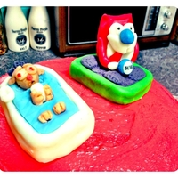 Ren & Stimpy Birthday Cake Made this for my 14 year old's birthday