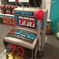 Slot Machine Cake For 70Th Birthday I made this for a client for a 70th birthday.