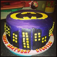 Batman Cake For My Daughters 10Th Birthday Golden Butter Cake With Ganache And Strawberry Filling Fondant Accents Batman cake for my daughter's 10th birthday. Golden Butter cake with ganache and strawberry filling. Fondant accents