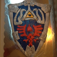 Legend Of Zelda Link's Shield Mario Nintendo Game I made this for my son's 10th bday