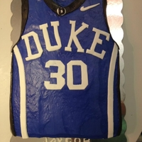 Duke Blue Devils Basketball Jersey Cake #30 Curry I made this for my cousins birthday