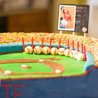 Atlanta Braves Atlanta Braves baseball cake. The field itself is a chocolate and vanilla cake covered with buttercream icing with fondant accents....