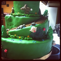 Outdoorsy Cake marshmallow fondant and gum paste