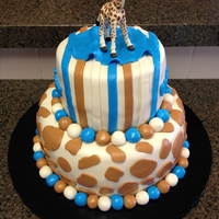 Giraffe Cake This is the front of a cake I made for my niece's baby shower. I didn't make the giraffe on the top. It was supplied by her...