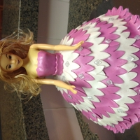 Barbie Cake The dress is fondant with isomalt jewels.