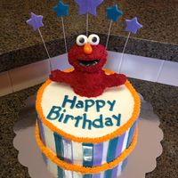 Elmo Was Made From Rice Krispies The Stripes Text And Stars Are Fondant Along With Elmos Eyes Nose And Mouth Lining The Rest Is Butt Elmo was made from Rice Krispies. The stripes, text, and stars are fondant, along with Elmo's eyes, nose, and mouth lining. The rest...