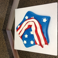 4Th Of July 2012 Cake is covered in fondant, white inlaid stars.