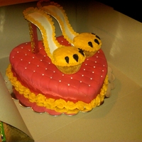 "Louboutin ""lion Paw"" Heels Cupcake Heels made like the Louboutin ""Lion Paw"" Shoes"