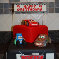 Cars Birthday Sorry but I can't remember who is the original designer of this cake but I greatly appreciate their creativity. CARS characters are...