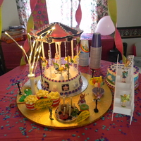 Fairies The Unicorn Carousel Cake.