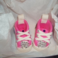 My First Gumpaste Converse My very first gumpaste converse sneaker. I made them for my grand-daughter. She loves pink and purple. So I made the converse star in...