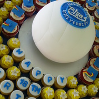 Vollyball And Cupcakes   Everything is edible :) Graduation/birthday
