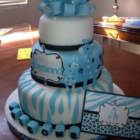 Baby Shower Giraffe Theme 12, 9, and 6 inch giraffe theme baby shower cake
