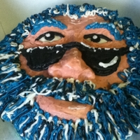 "Jerry Garcia This is just a 10"" cake with Jerry's face moulded out of cake ""spackle"" and covered in frosting. I wrote lyrics to the..."
