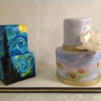 Inspired By The Mastershand Painted Cakes Van Gogh Starry Night Monet Water Lilies Inspired by the masters...hand painted cakes Van Gogh - Starry Night Monet - Water Lilies