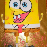 Sponge Bob Butter cream and fondant