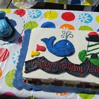 Whale Cake This was to match his crib bedding set. Smash cake to match.