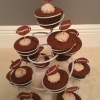 Super Bowl Cupcakes Black Russian cupcakes with Chocolate-Kahlua SMBC