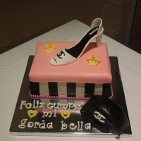 Purse And High Heels Shoe Birthday Cake Cake inspired by Riky's chanel cake. This was my first time doing a gumpaste/fondant shoe and a purse mini cake so overall I'm...