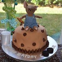 If You Give A Mouse A Cookie Cake If You Give a Mouse a Cookie Cake (Austen's 1st Birthday)Chocolate cake filled with cookies and cream filling and covered with...