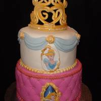 Princess & Tiara Cake all edible cake