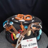 "Blue Ridge Parkway ""tree Of Shame"" Cake *"
